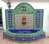 Wall fountain using Mexican tiles by kristiblackdesigns ...