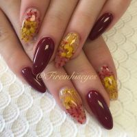 fireinhiseyes | Nail Art  Dried Flower Nails | Pinterest ...