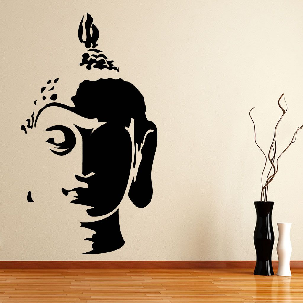 Online Home Decor Shopping Wall Decals & Stickers India Buddha