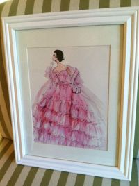 Vintage Glam Barbie Print Wall Hanging In by ...