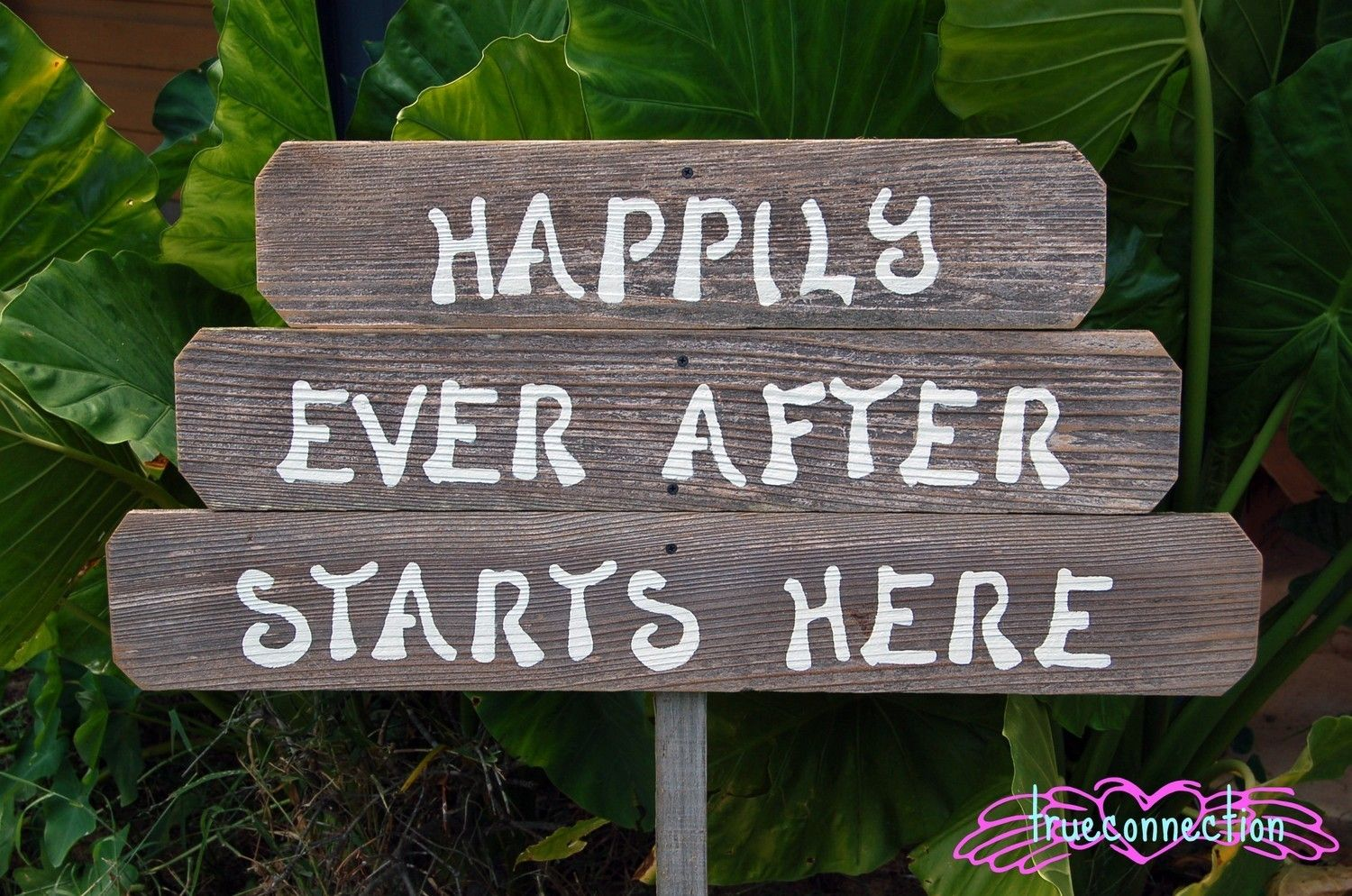 Happily Ever After Starts Here Wood Wedding Signs Rustic Wedding Eco Wedding Reception Signs