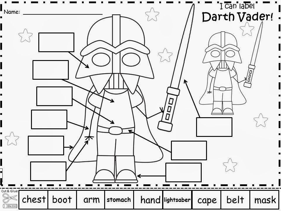 Free: Star Wars Labels. Have your students write in the