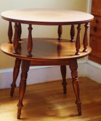 Heywood Wakefield Inspired Side Table ~ Maple Round Two ...