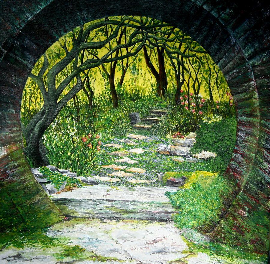 Enchanted Garden Gardens LPs And Paintings