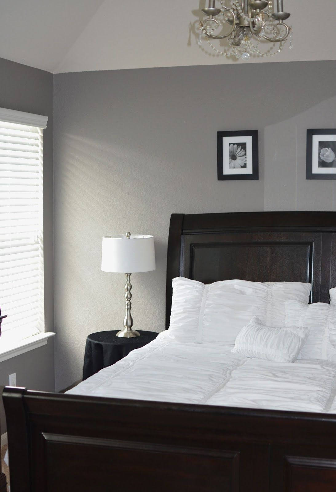 Bedroom Paint Ideas Grey Grey Master Bedroom. Behr Creek Bend. #grey #white #