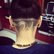 valentine undercut heart hair