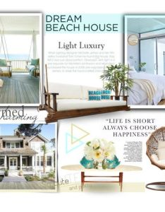 Dream beach house by katyusha kis liked on polyvore featuring interior also rh pinterest