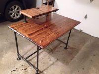 Industrial computer desk I built for a friend. Butcher ...