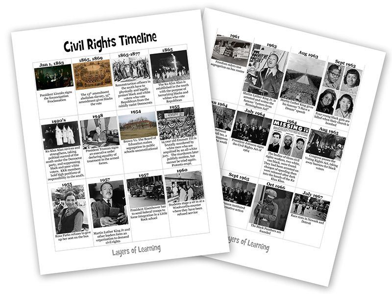 Get our free printable American civil rights movement