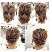 messy updo tutorial short hair