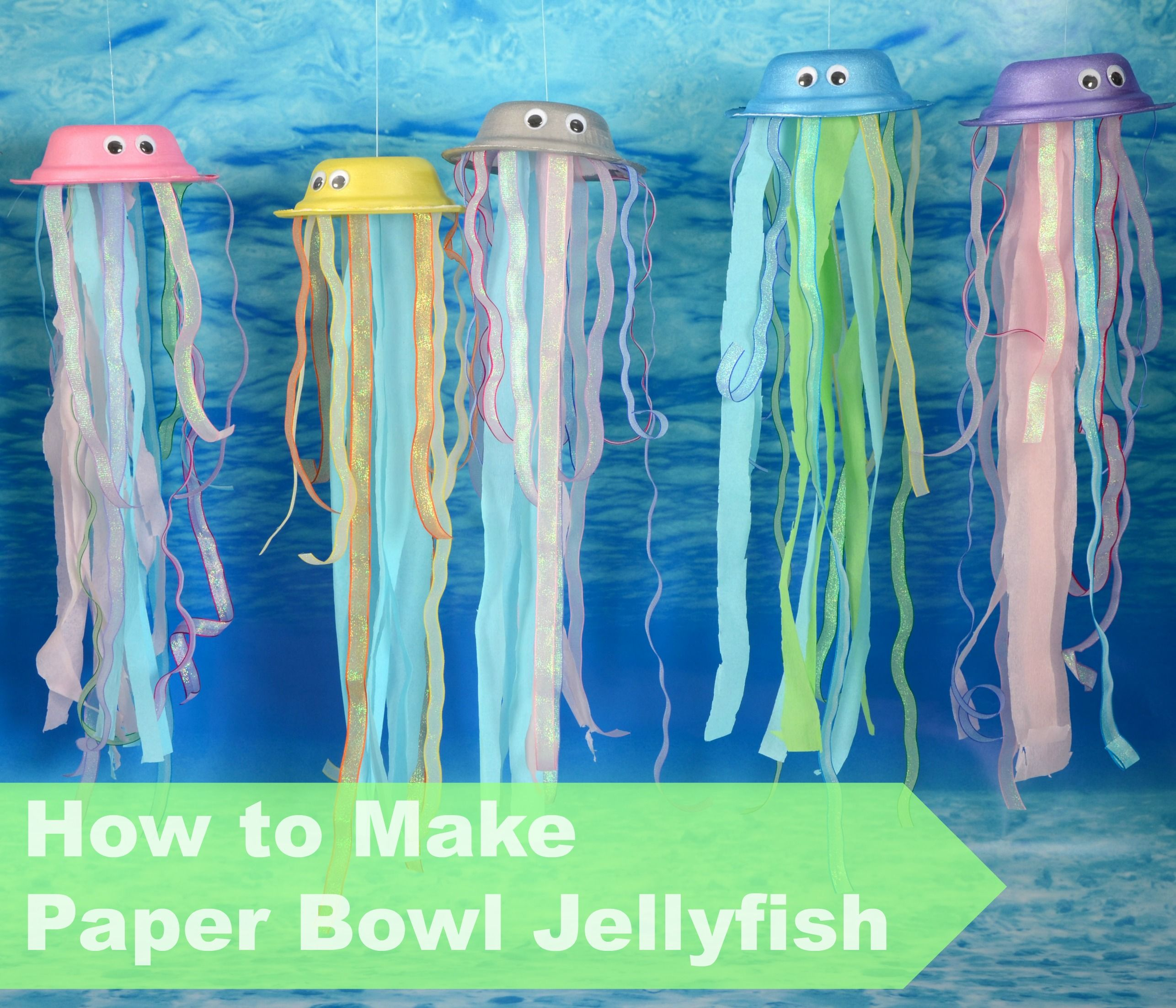 How To Make A Paper Bowl Jellyfish The Perfect Addition To Any Eyfs Under The Sea Themed