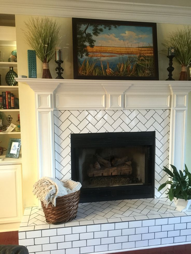 Fireplace Tile Surround and Hearth