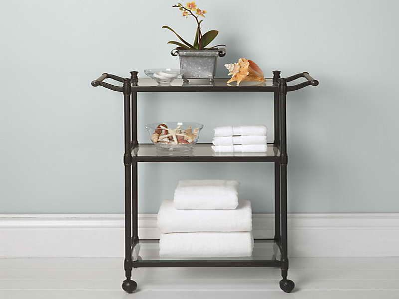 simple rolling bath cart design ~ http://modtopiastudio/simple