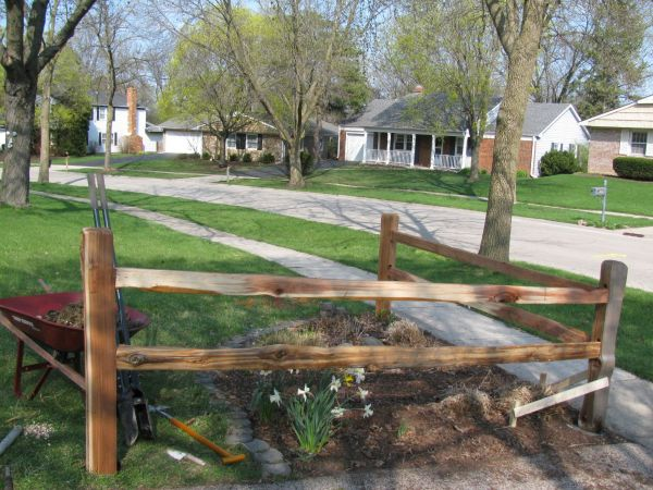 Split Rail Corner Fence Garden