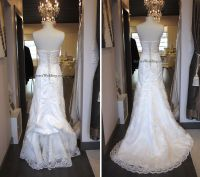 French bustle on lace wedding dress | Wedding Gown ...