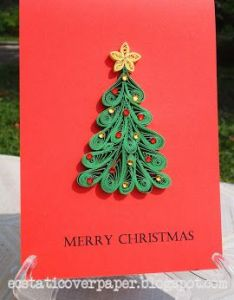 All paper excepts the bead  lights and mirror base by cathy schlim quilling pinterest christmas trees also one of my first  rh za