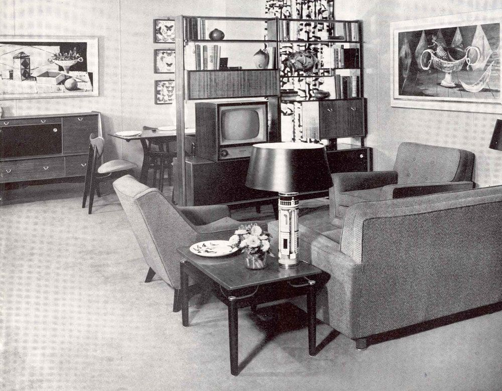 50s Living Room! Different Eras Pinterest Furniture House