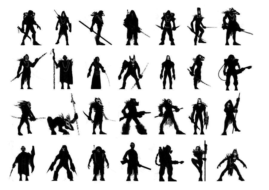 character silhouettes by MartinBailly.deviantart.com on