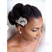 Nigerian wedding natural hair bridal hairstyles Elmai