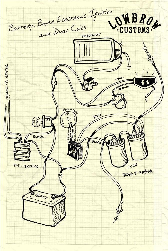 Triumph British Wiring Diagram Boyer Dual Coil 673×1000