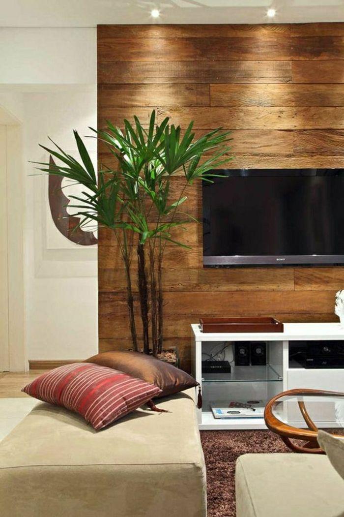 wohnzimmer modern einrichten holz moebel kamin wandpaneele - boisholz - Wohnzimmer Modern Holz