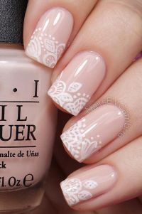 40 Nude Color Nail Art Ideas | White polish, Nude nails ...