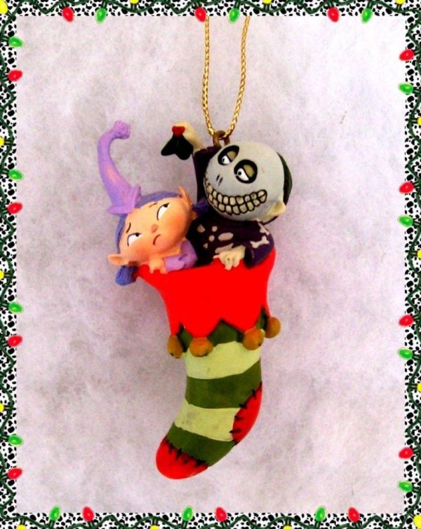 Disney Stuffed Barrel Elf Stocking Nightmare
