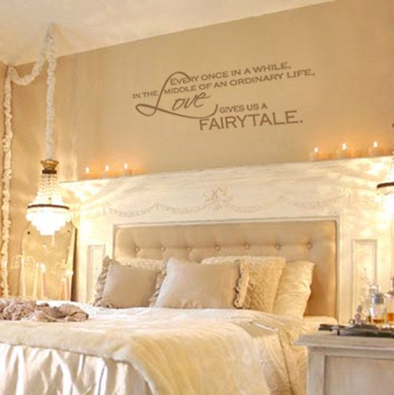 Love Gives Us A Fairytale Vinyl Wall Decal Quote Lettering Decor Bedroom Art 11h X 28w Lo006