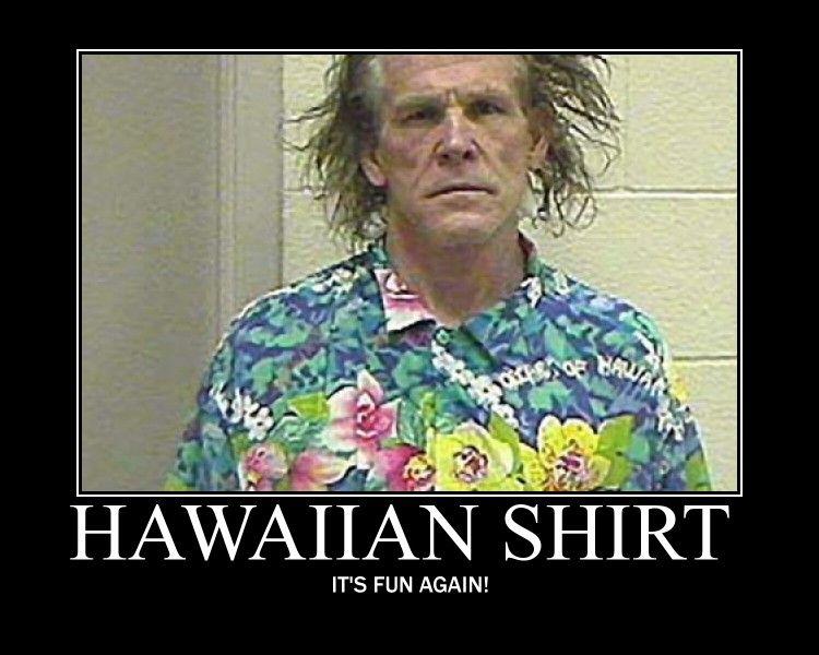 Funny Hawaiian Shirt Guy