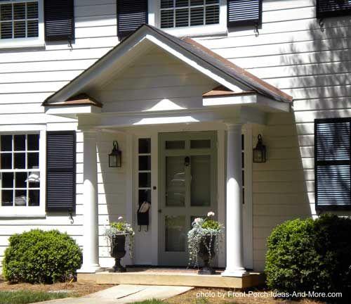 Front Porch Portico Designs Hip Roof Portico Designed And Built