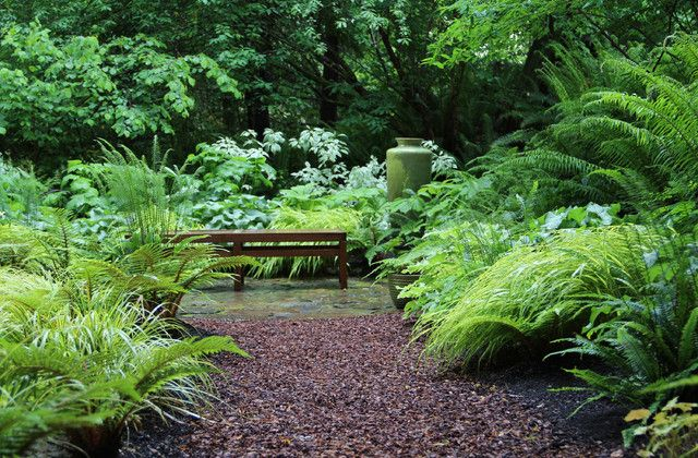 Bliss Garden Design Lytle Road Bainbridge Island Shaded Creek