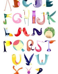 This bird alphabet chart wins us over on merit of creativity and sheer joyfulness by andrea kalfas furniture projects pinterest charts also rh