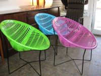 SOLAIR CHAIR or MOTEL CHAIR retro vintage round plastic ...