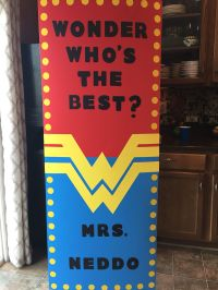 "Teacher Appreciation Door Decoration ""Wonder Woman Super"
