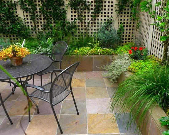 Patio Fence Eclectic Outside Flooring Ideas Contemporary Patio