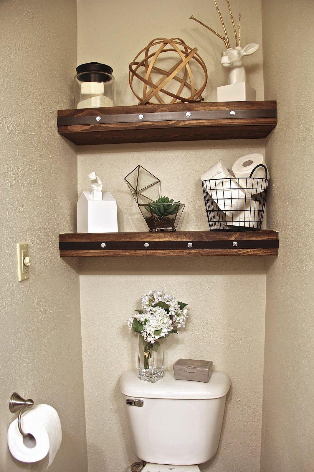 Floating shelves for the Master toilet closet  Master