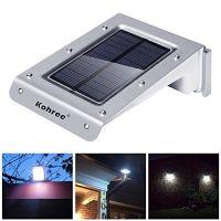 Kohree 20 LED Bright Solar Powered Motion Sensor Light ...