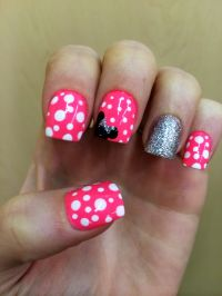 Disney Minnie Mouse Nails | Nails I've had | Pinterest ...
