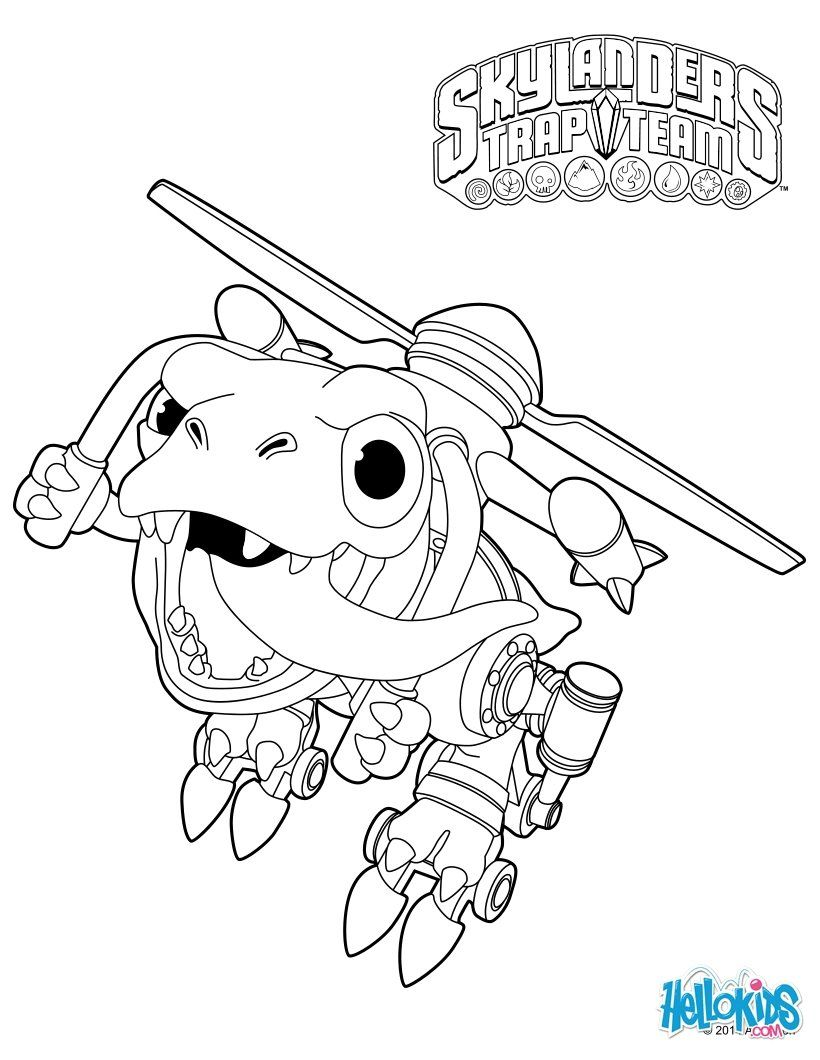 skylanders trap team coloring pages  chopper  coloring
