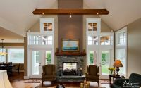 living room double sided fireplace | patio living ...