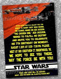 Star Wars Greeting Card Template Darth Vader Star Wars