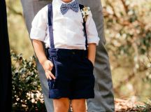 Page boy navy blue suspenders adorable | Our Perfect ...