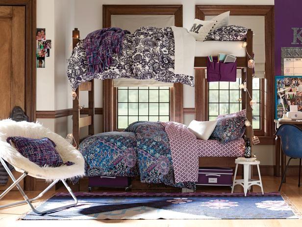 Purple Dorm Rooms On Pinterest