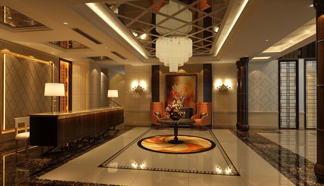 A Balanced Composition For Lobby Interior Design With Innovative