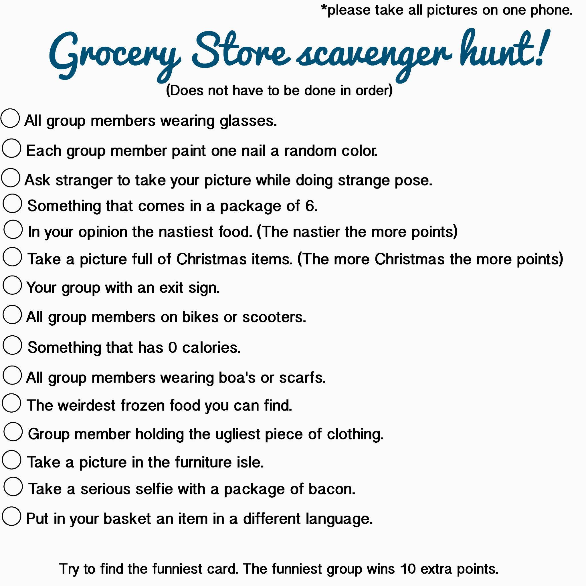 Grocery Store Scavenger Hunt Could Be Done At Walmart
