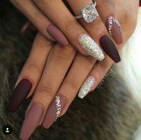 Ballerina Nails. Matte nails. Nails with rhinestones ...