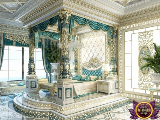 Bedroom Design in Dubai luxury Royal Master bedroom design