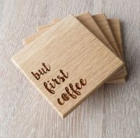 Wooden coasters solid wood drink or coffee by