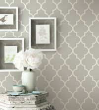 Grey contemporary geometric wallpaper | Simplicity Two ...