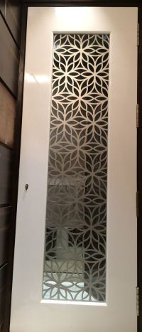 Custom made Laser Cut Grill for Main Door in MS for a